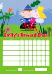 Personalised Ben and Holly's Little Kingdom Reward Chart (adding photo option available)